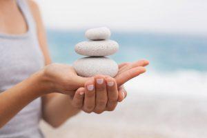 Kosmetik Sicherheit Steine Balance